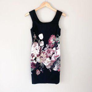 Vivienne Tam Border Print Black Floral Dress 2P
